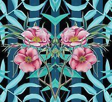 Tropical Nostalgia Mirror by Meagan Snee