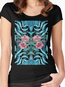 Tropical Nostalgia Mirror Women's Fitted Scoop T-Shirt