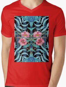 Tropical Nostalgia Mirror Mens V-Neck T-Shirt