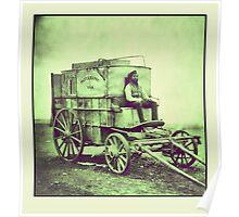 Antique photo Wild West Photographer and his van Poster