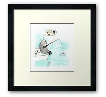 Fishing seal Framed Print