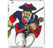 Red White and Blue Patriot Running iPad Case/Skin