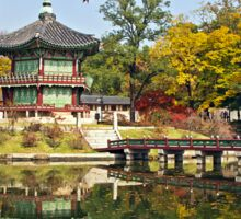 Hyangwonjeong Pavilion in Autumn Sticker