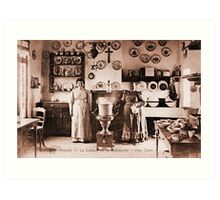 Antique real Belgian waffles and pancakes house Knokke Art Print