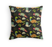 Eat Your Veggies in Brights Throw Pillow