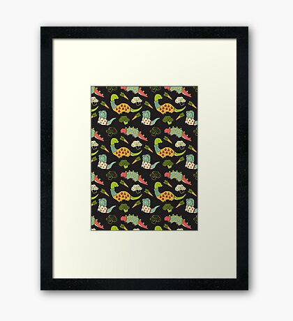 Eat Your Veggies in Brights Framed Print