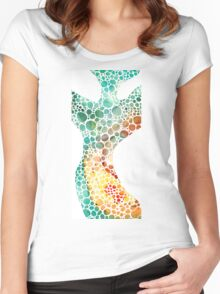 Ultra Modern Art - Colorforms 2 - Sharon Cummings Women's Fitted Scoop T-Shirt