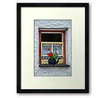Traditional Cottage Window - Bunratty - County Clare - Ireland Framed Print