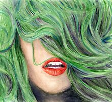 Green Haired Girl  by Joanna Albright
