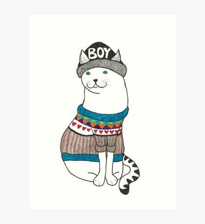 Boycat Art Print