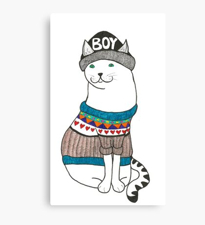 Boycat Canvas Print