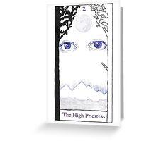 The High Priestess from The BirdQueen Tarot Greeting Card