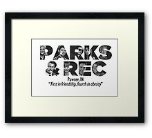 Parks and Recreation Framed Print