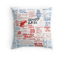 Occupy Wall Street Signs Throw Pillow