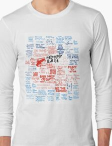 Occupy Wall Street Signs Long Sleeve T-Shirt