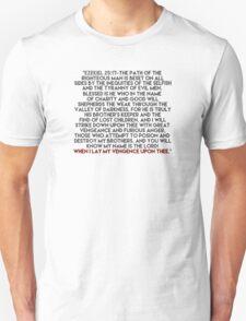 Ezekiel 25:17 Speech Unisex T-Shirt