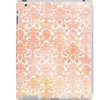 Peach White Damask Watercolor Pattern iPad Case/Skin