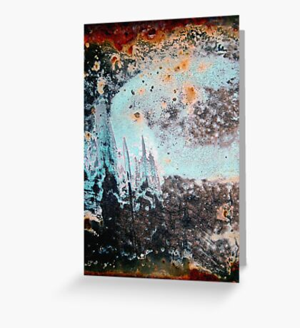 blue moon rise Greeting Card