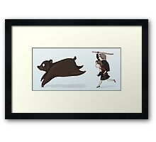 True Love Conquers All - Even Big Meanie Bears Framed Print