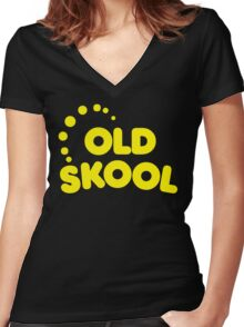 Old Skool Music Quote Women's Fitted V-Neck T-Shirt