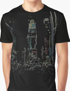 New York City Time square Graphic T-Shirt