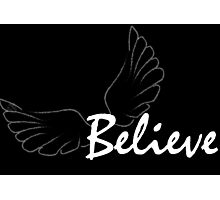 Believe Wings Inspirational Words Photographic Print