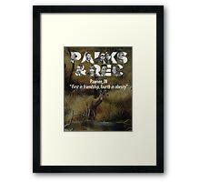 Parks and Recreation Framed Print