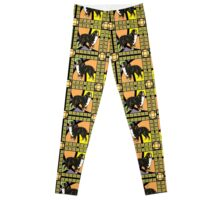 Bernese Mountain Dog Stained Glass Repeat Leggings