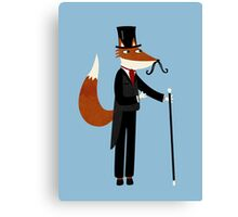 Mr Fox Takes a Stroll Canvas Print