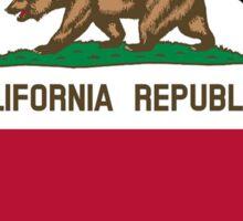 California flag Georgia outline Sticker