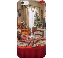 Christmas Table Setting iPhone Case/Skin