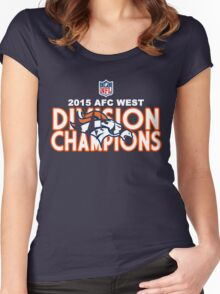 Denver Broncos - 2015 AFC West Champions Women's Fitted Scoop T-Shirt