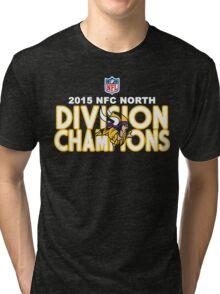 Minnesota Vikings - 2015 NFC North Champions Tri-blend T-Shirt