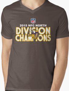 Minnesota Vikings - 2015 NFC North Champions Mens V-Neck T-Shirt