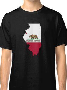 California flag Illinois outline Classic T-Shirt