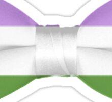 Genderqueer Pride Bow-tie Sticker
