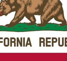 California flag Iowa outline Sticker