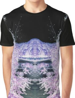 The moon in purple trees Graphic T-Shirt