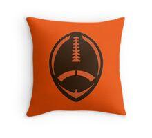 Vector Football - Brown Throw Pillow