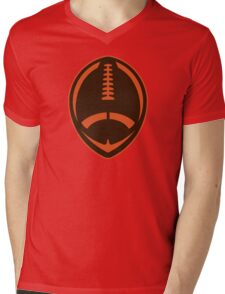 Vector Football - Brown Mens V-Neck T-Shirt
