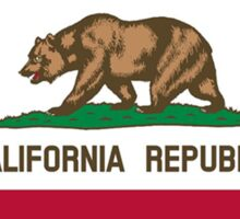 California flag Kansas outline Sticker