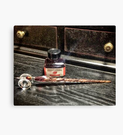 Glass Quill Canvas Print