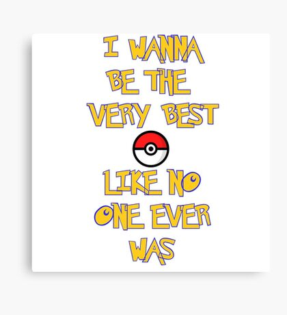 Pokemon Theme Canvas Print
