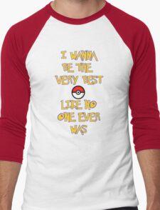 Pokemon Theme Men's Baseball ¾ T-Shirt