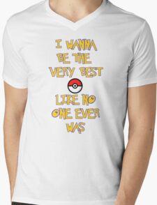 Pokemon Theme Mens V-Neck T-Shirt