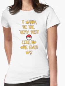 Pokemon Theme Womens Fitted T-Shirt