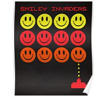 Smile Invaders Gaming Quote Poster