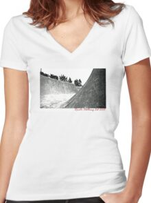 Rom.  Women's Fitted V-Neck T-Shirt
