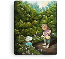 The Iittle Gardener Canvas Print