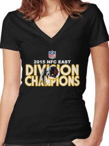 Washington Redskins - 2015 NFC East Champions Women's Fitted V-Neck T-Shirt
